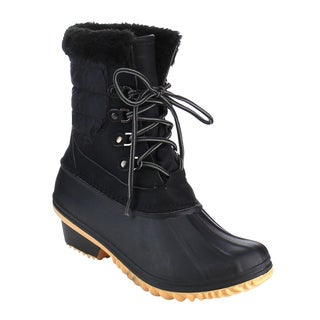 Nature Breeze Women's FF93 Lace-up Duck-style Ankle Booties
