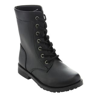 Honey Bunny Girls' FF95 Lace Up Fold Over Cuff Combat Boots|https://ak1.ostkcdn.com/images/products/13651256/P20319214.jpg?impolicy=medium