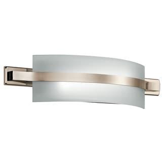 Kichler Lighting Freeport Collection 1-light 22-inch Polished Nickel LED Linear Bath/Vanity Light