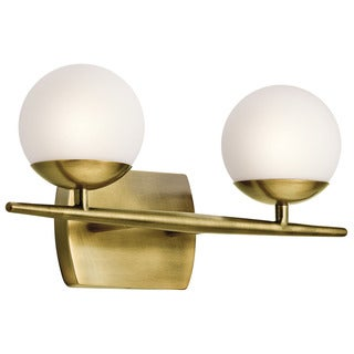 Kichler Lighting Jasper Collection 2-light Natural Brass Halogen Bath/Vanity Light