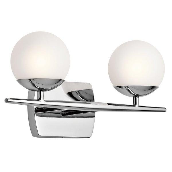 Shop Kichler Lighting Jasper Collection 2-light Chrome Halogen Bath ...