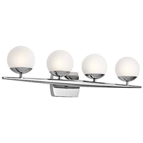 Kichler Jasper 4-light Chrome Halogen Bath/Vanity Light
