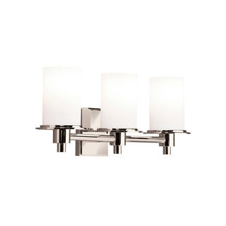 Kichler Lighting Cylinders Collection 3-light Polished Nickel Bath/Vanity Light