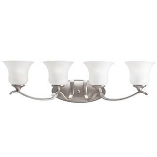 Kichler Lighting Wedgeport Collection 4-light Brushed Nickel Bath/Vanity Light
