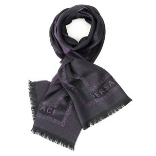 Versace Men's In and Out Squares Wool Scarf