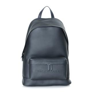 Balenciaga Black Leather Navy Backpack