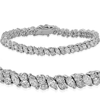 18k White Gold 7.86 ct TDW Marquise & Round Diamond Tennis Bracelet https://ak1.ostkcdn.com/images/products/13655793/P20323132.jpg?impolicy=medium