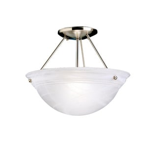 Kichler Lighting Cove Molding Top Glass Collection 2-light Brushed Nickel Semi Flush Mount
