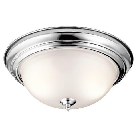 Kichler Lighting Transitional 2-light Chrome Flush Mount