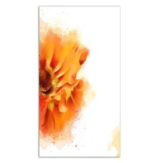 Designart 'Beautiful Yellow Flower Watercolor' Flowers Metal Wall Art