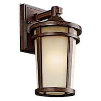 Kichler Lighting Atwood Collection 1-light Brownstone Fluorescent Outdoor Wall Lantern