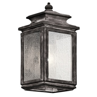 Kichler Lighting Wiscombe Park Collection 1-light Weathered Zinc Outdoor Wall Lantern