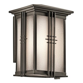 Kichler Lighting Portman Square Collection 1-light Olde Bronze Outdoor Wall Lantern