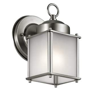 Kichler Lighting Traditional 1-light Stainless Steel Outdoor Wall Sconce|https://ak1.ostkcdn.com/images/products/13657957/P20325005.jpg?impolicy=medium