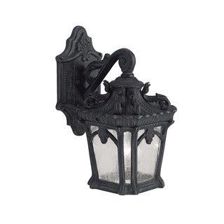Kichler Lighting Tournai Collection 1-light Textured Black Outdoor Wall Lantern