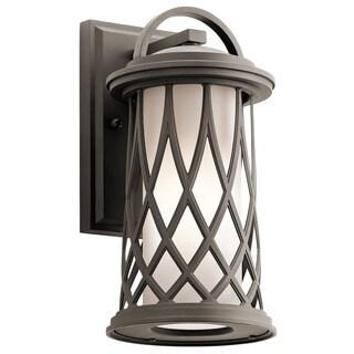 Kichler Lighting Pebble Lane Collection 1-light Olde Bronze Outdoor Wall Lantern