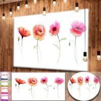 Designart 'Watercolor Poppy Flowers Sketch' Flower Metal Wall Art