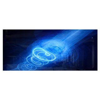 Designart 'New Plasma Weapon in Space' Large Abstract Metal Wall Art