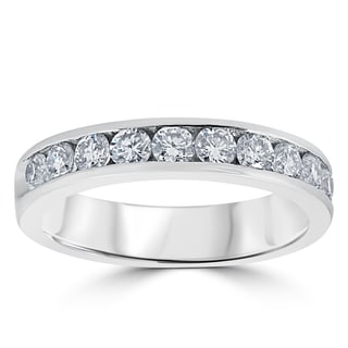 950 Platinum 1 ct TDW Diamond Channel Set Wedding Ring (F-G,VS1-VS2)