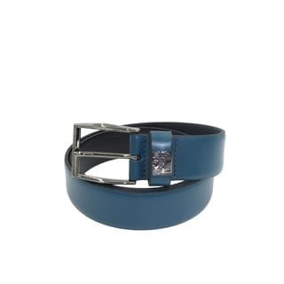 Versace Collection Men's Teal Leather Belt