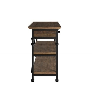 Myra Vintage Industrial Modern Rustic Media TV Stand Console by TRIBECCA HOME