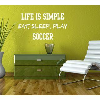 Eat Sleep Play Soccer Kids Room Children Stylish Wall Art Sticker Decall size 44x60 Color Black