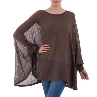 Handmade Acrylic Cotton Blend 'Desert Breeze' Sweater (Peru) (2 options available)