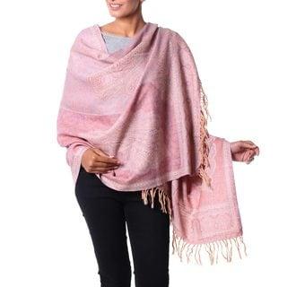 Handmade Wool 'Paisley Delight' Shawl (India)