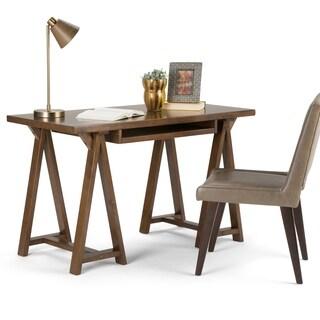WYNDENHALL Hawkins Small Desk (Option: Chestnut Finish)