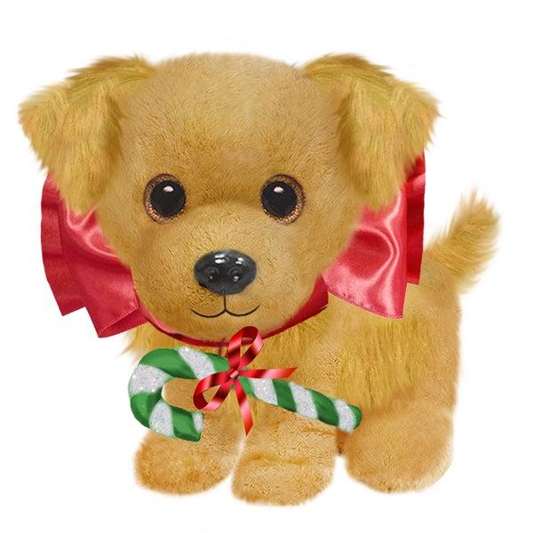 """Dog 7"""" Christmas Plush Wuffles Golden Retriever"""