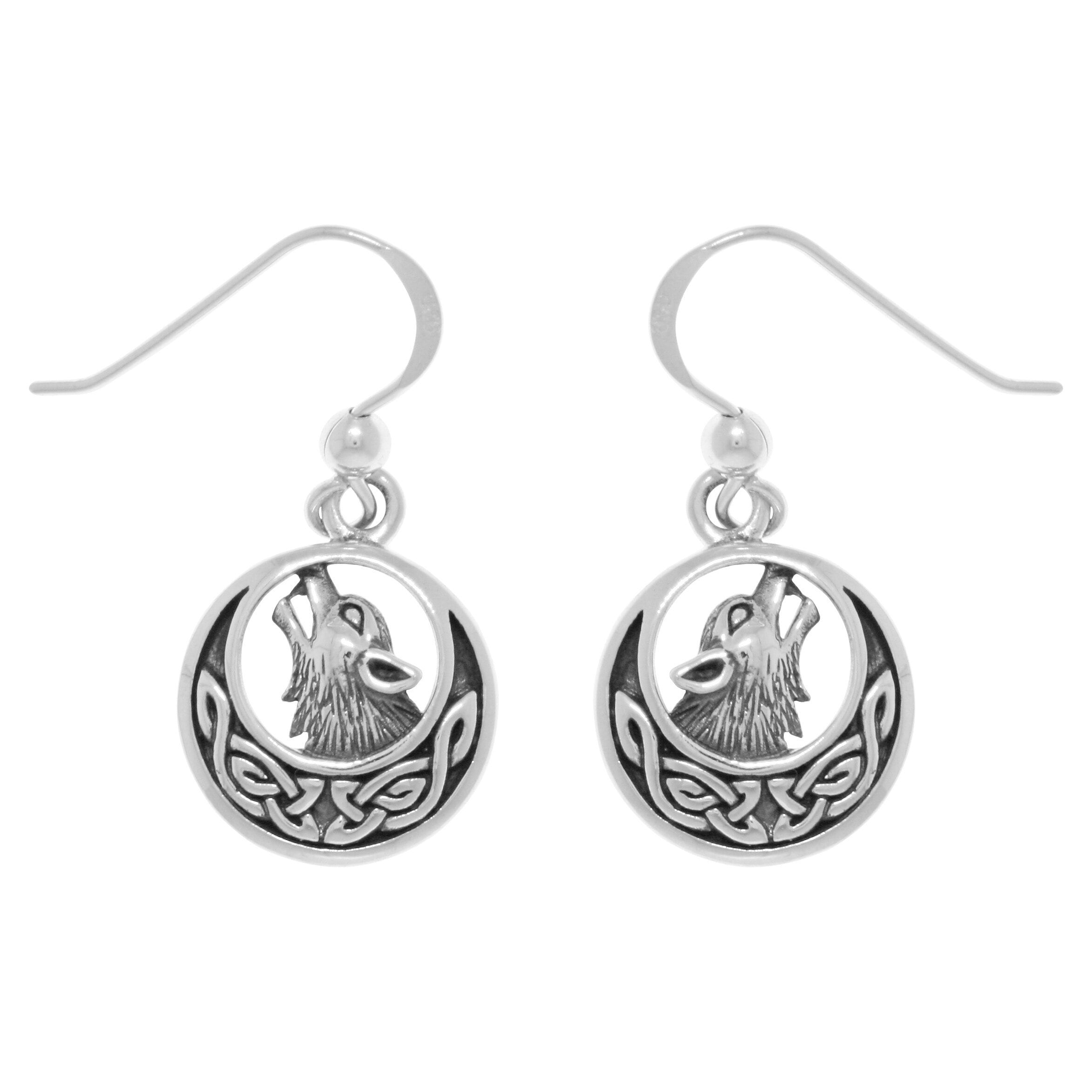 Carolina Glamour Collection Sterling Silver Howling Wolf ...