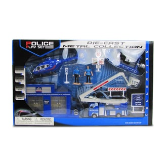 Puzzled Multicolor Metal Assorted Police Playset
