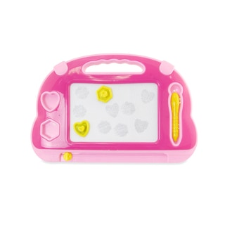 Puzzled Pink Drawing Pad