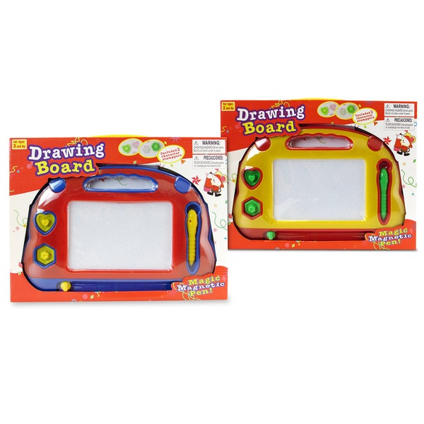 Puzzled Red and Yellow Drawing Pad Set