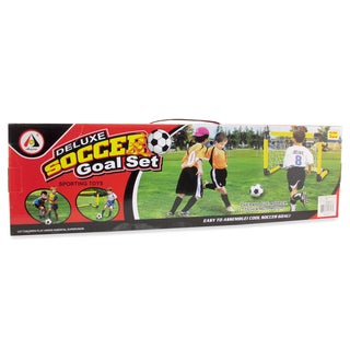 Puzzled Deluxe Plastic Soccer Goal Net
