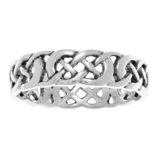 Carolina Glamour Collection Jewelry Trends Sterling Silver Celtic Filigree Knotwork Band Ring