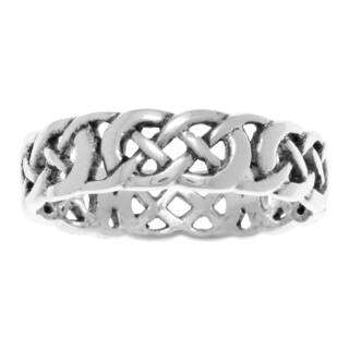 Carolina Glamour Collection Jewelry Trends Sterling Silver Celtic Filigree Knotwork Band Ring|https://ak1.ostkcdn.com/images/products/13678846/P20344322.jpg?impolicy=medium