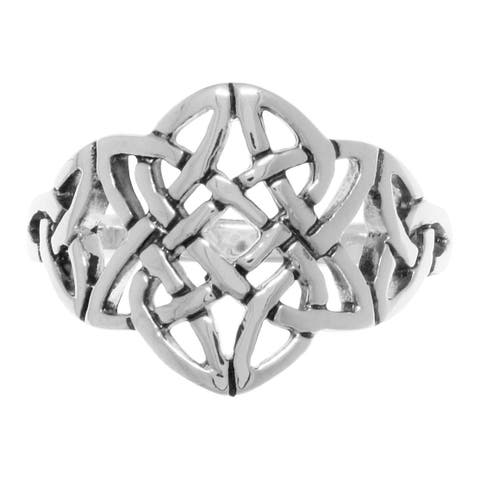Sterling Silver Celtic Trinity Star Knotwork Ring