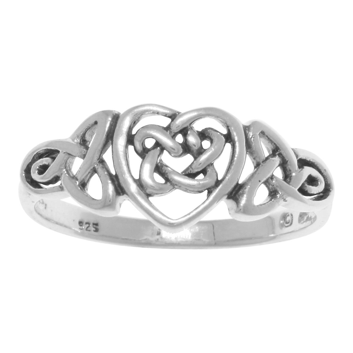 DeCarat Diamond Accent Sterling Silver Thick Scroll Ring