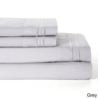 Embrodary 1800 Series Double-Brushed Luxury Ultra Soft 4-piece Bed Sheet Set (More options available)