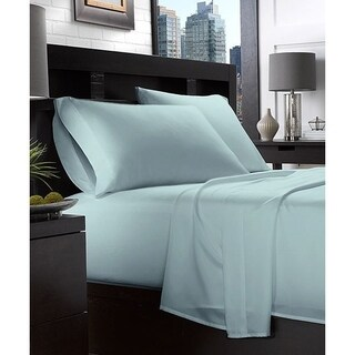 Embroidery 1800 Series Double-Brushed Luxury Ultra Soft 4-piece Bed Sheet Set
