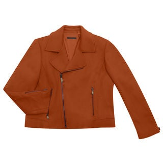 Elie Tahari Women's Mae Orange Nylon and Wool Coat