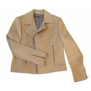 Elie Tahari Mae Women's Beige Wool Coat