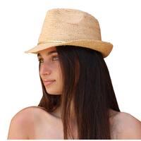 Palms & Sand Women's Raffia Fedora Sun Hat