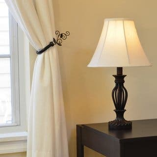 Hardwired table lamps for less overstock antique bronze iron scrollwork table lamp greentooth Images
