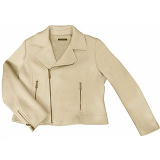 Elie Tahari Women's Beige Nylon and Wool Coat
