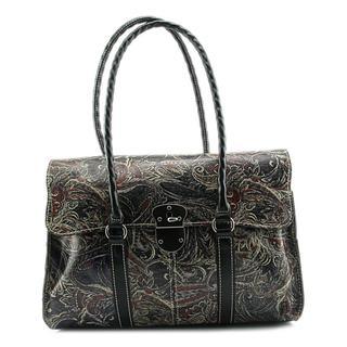 Patricia Nash Women's P53101 Black Leather Handbag