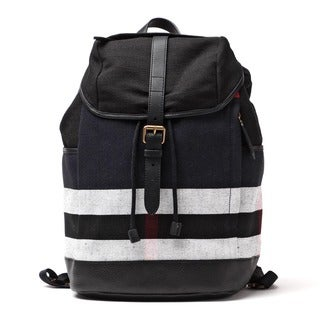 Burberry Drifton Black Check Canvas Backpack