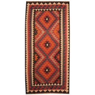 Herat Oriental Afghan Hand-woven Tribal Wool Kilim (3'2 x 6'6)