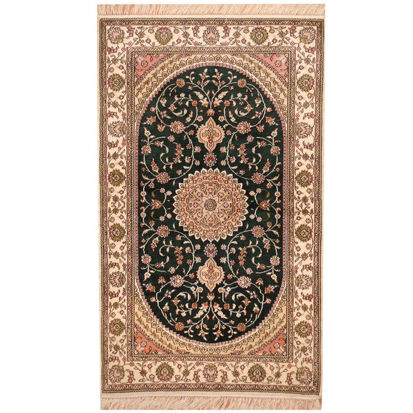 Handmade Herat Oriental Indo Kashmiri Silk Rug India 3 X 5 Free Shipping Today 13679901